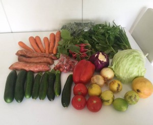 Veggies from Kings Cross Markets - paleo on a budget