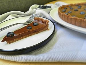 Healthy Chocolate Blueberry Tart