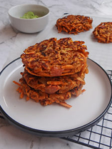 Paleo Sweet Potato Fritters with Bacon