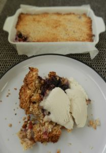 Paleo Apple and Blueberry Crumble